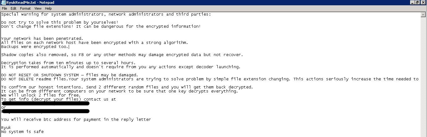 Decrypt Ryuk Ransomware  How to Recover Ryuk Encrypted Files