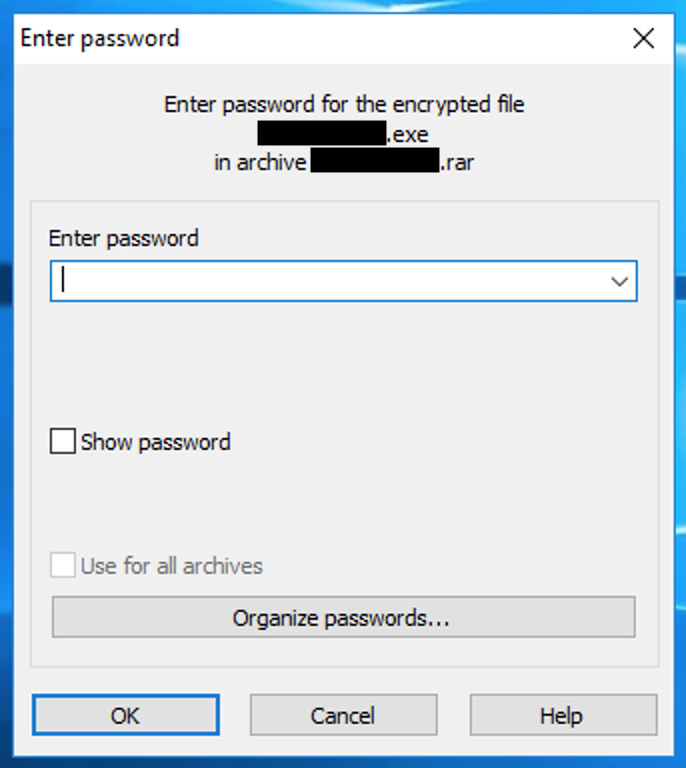 Password For Encrypted File