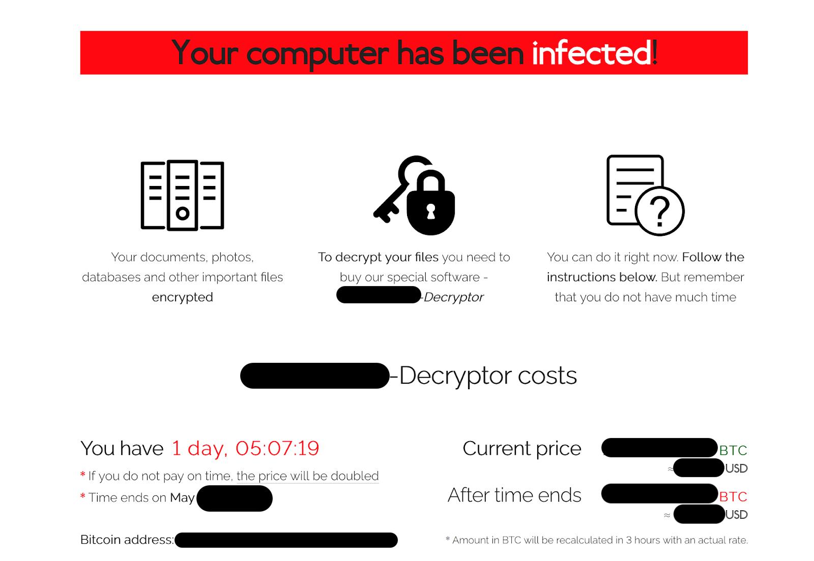 Sodinokibi Ransomware Home Page