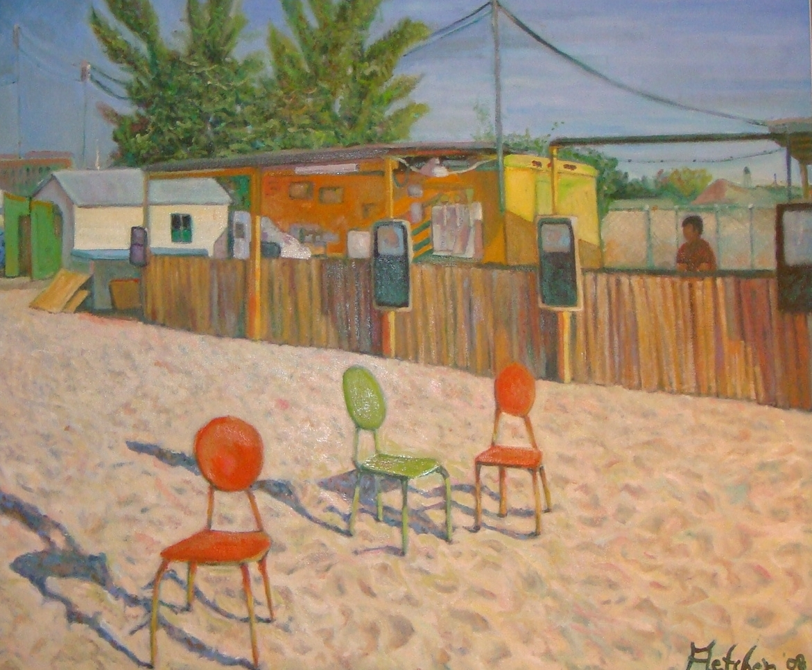 Chairs on Beach - SOLD
