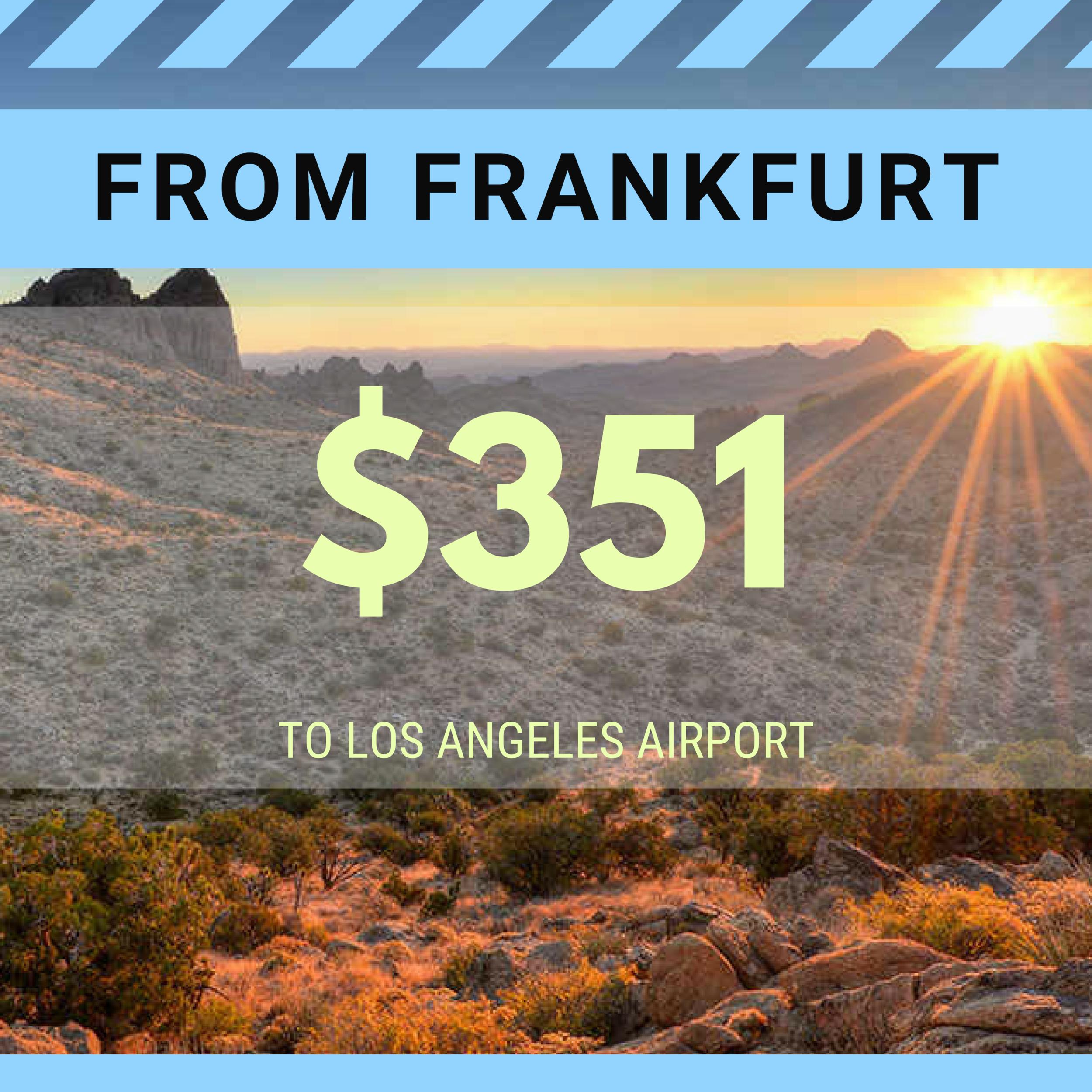 FROM FRANKFURT TO LAX