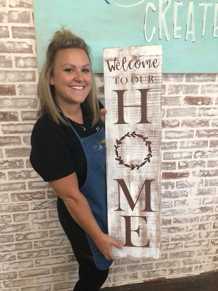 Welcome To Our Home 3ft sign $48