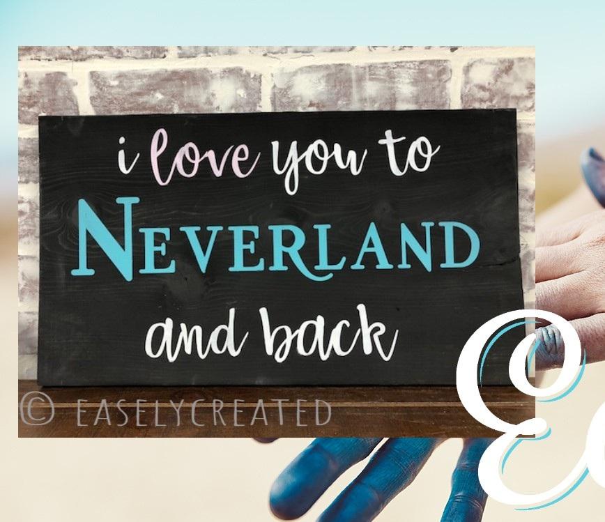 10x18 Neverland Sign $45