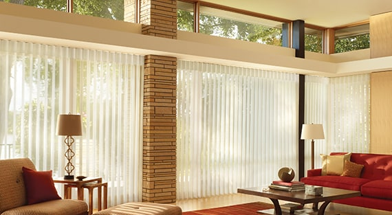 LUMINETTE®For wide windows and sliding doors, our Luminette®Privacy Sheers come in an array of sheer and drapery-like fabrics for unlimited light-control and privacy options. -