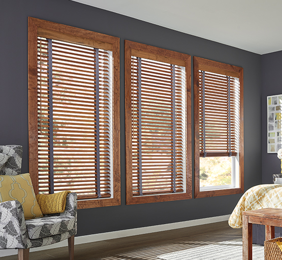 Graber Traditions®Wood BlindsHardwood blinds help you determine the statement you want to your room to project. Whether bold and confident, relaxed and placid - or anything in between - the versatility of our blinds allows them to work well with virtually any décor.We start with the basics — superior materials and craftsmanship — so you can focus on the details that will make your Graber Traditions®Wood Blinds the perfect addition to your home.Graber uses only 100% North American hardwood in the construction of our Graber Traditions®Wood Blinds. It is light in weight, consistent in colour, structurally stable, and attractive in grain. -