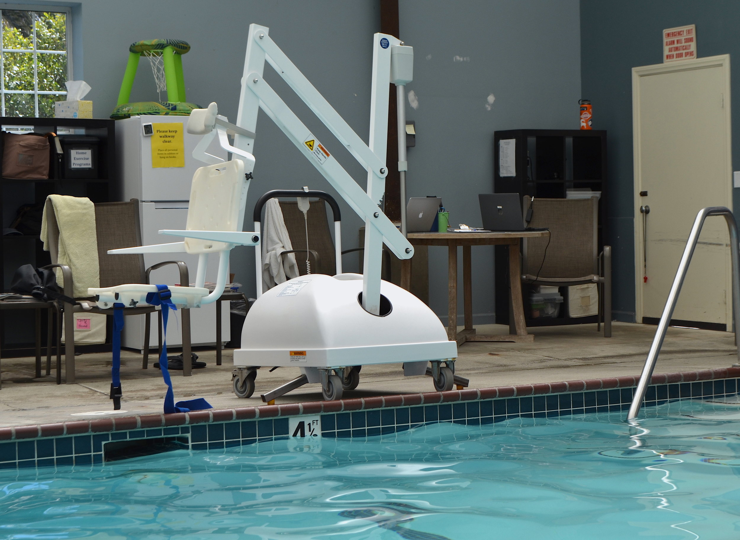 ADA-compliant pool lift available