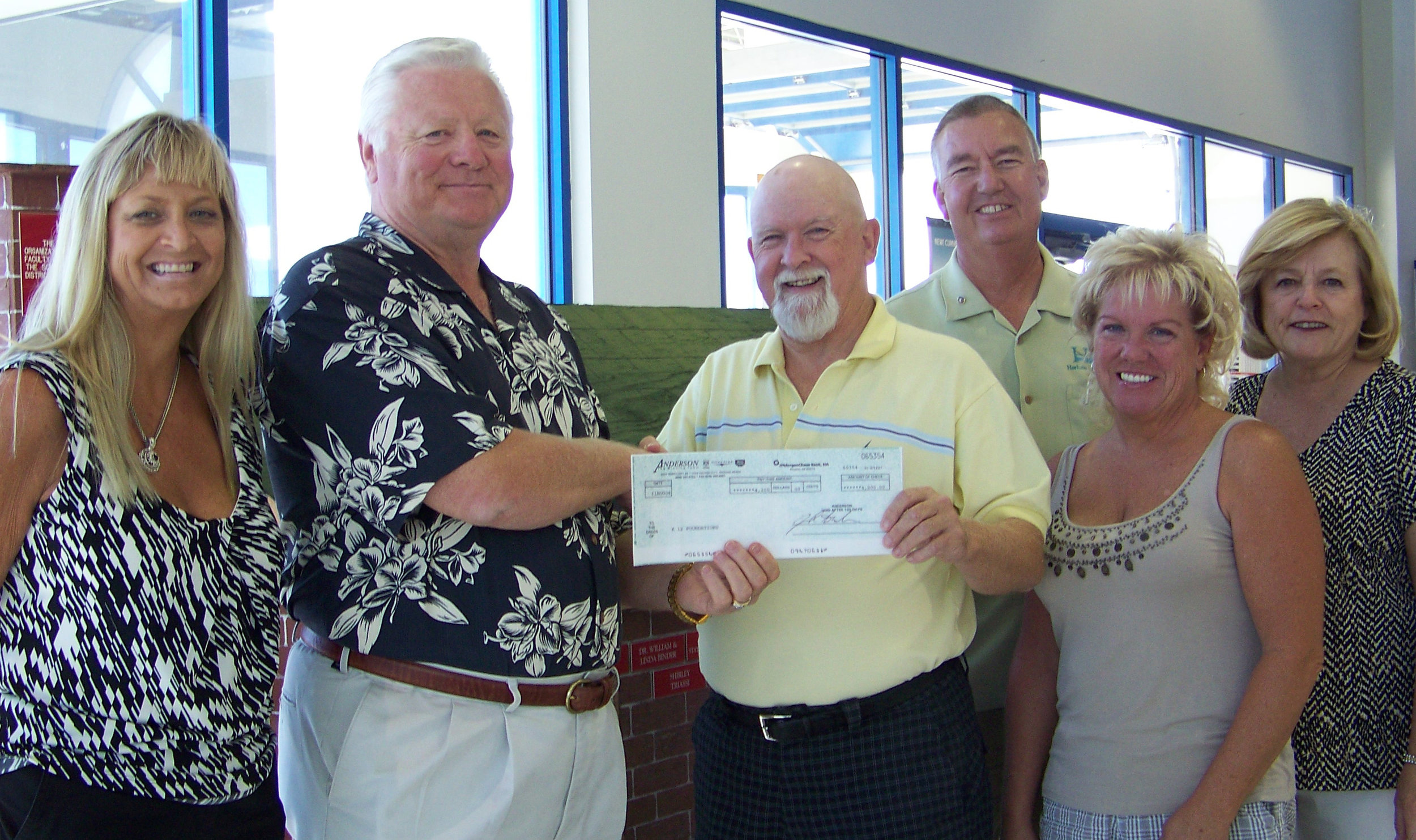 Anderson Auto Group Donation Sept 2008