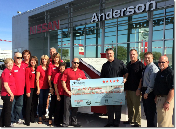 Anderson Auto Group Check Presentation 2014