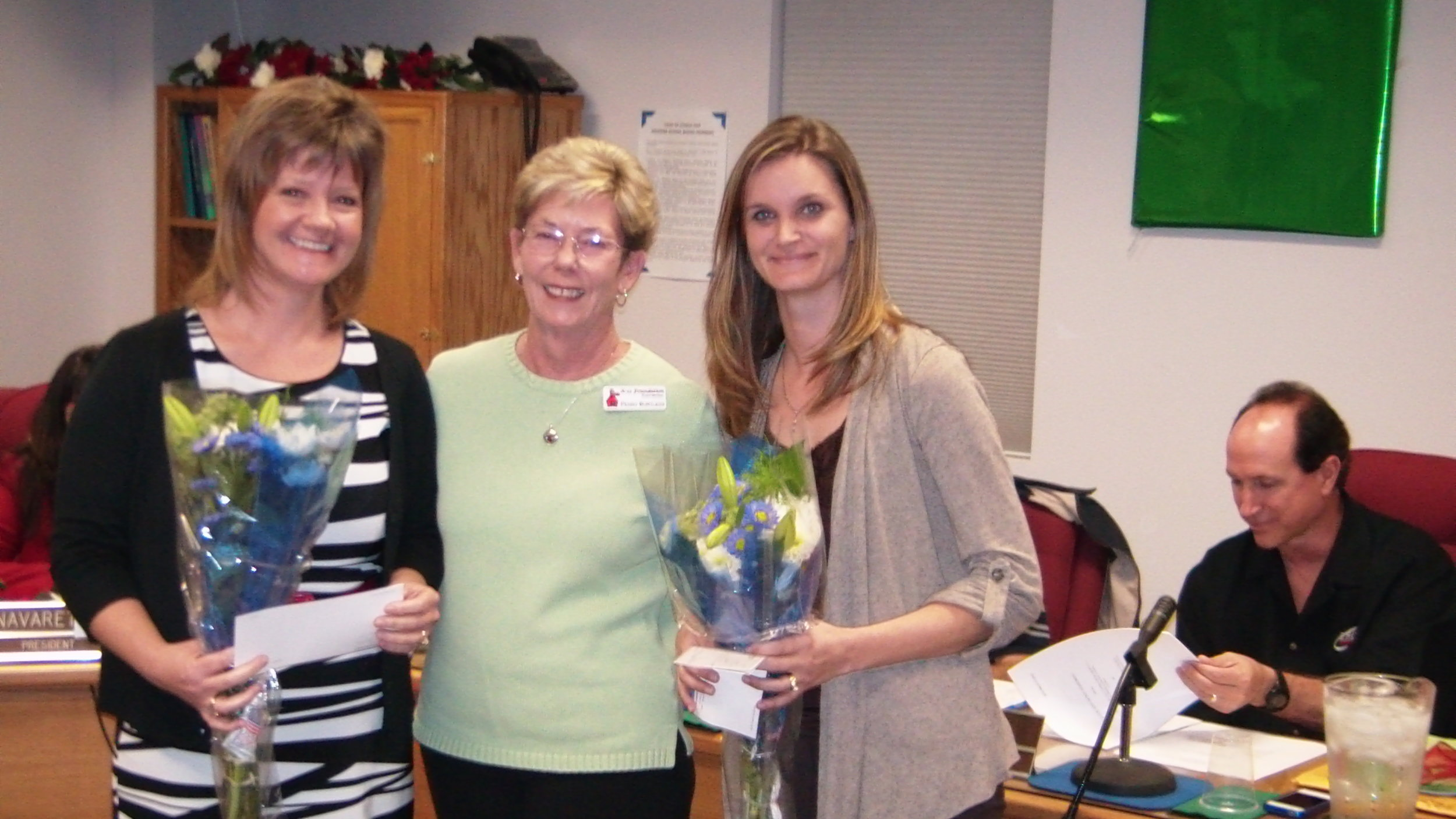 National Board Certification -Christie Olsen, K-12 Board President, Penny and Christina in 2011.