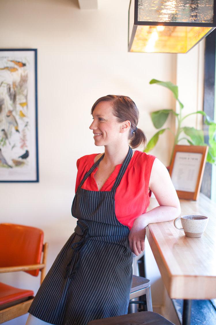 Owner + head baker, Beth Oristian.