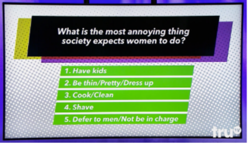 Image from Tru TV's game show Paid Off (a game show to help pay off student loan debt)