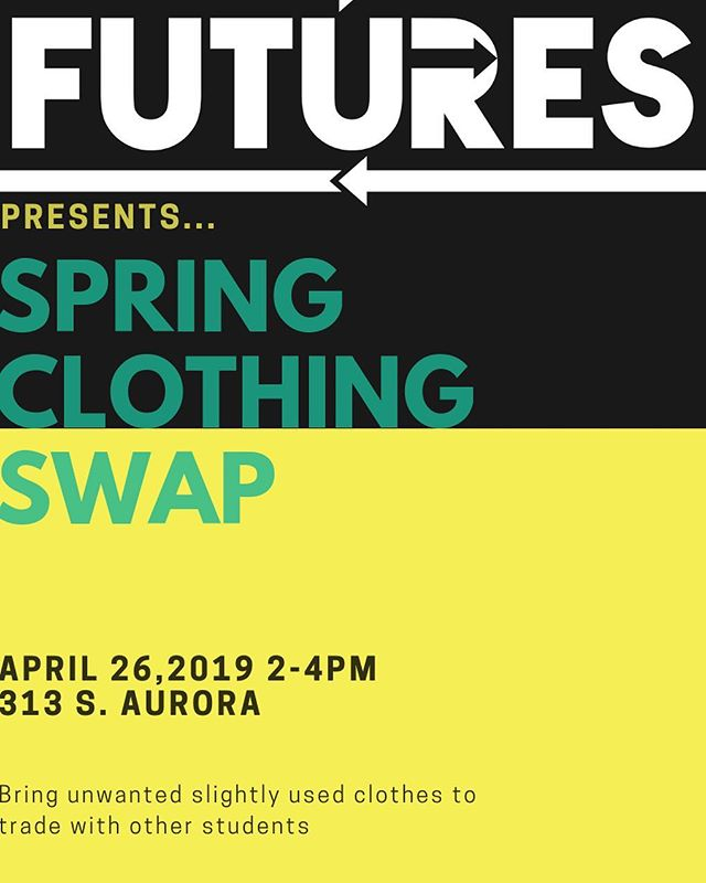 This Friday come to the second annual Futures Clothing Swap and sustainably trade and donate unwanted clothes