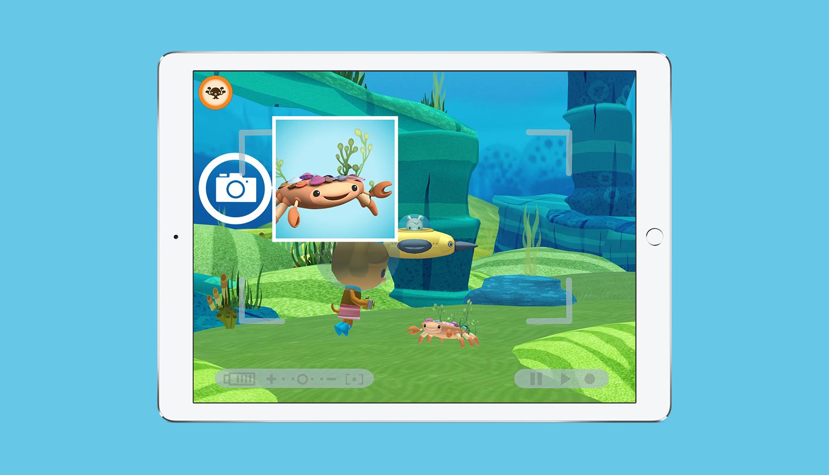 Octonauts App Photo Missions Screen
