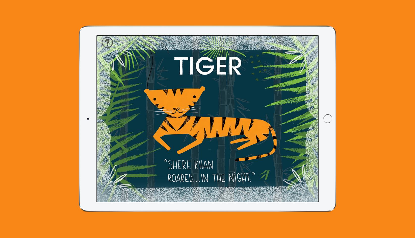 BabyLit Jungle Book App Tiger Screen