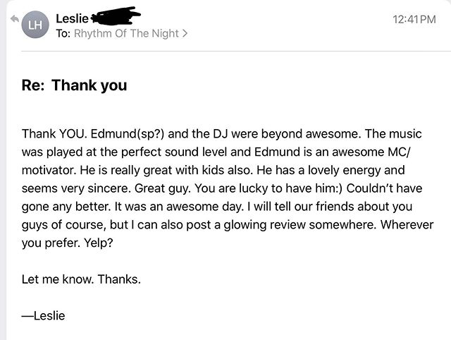 Just received this email from another happy client after we performed at their Mitzvah yesterday at Shapeshifter Lab in Brooklyn