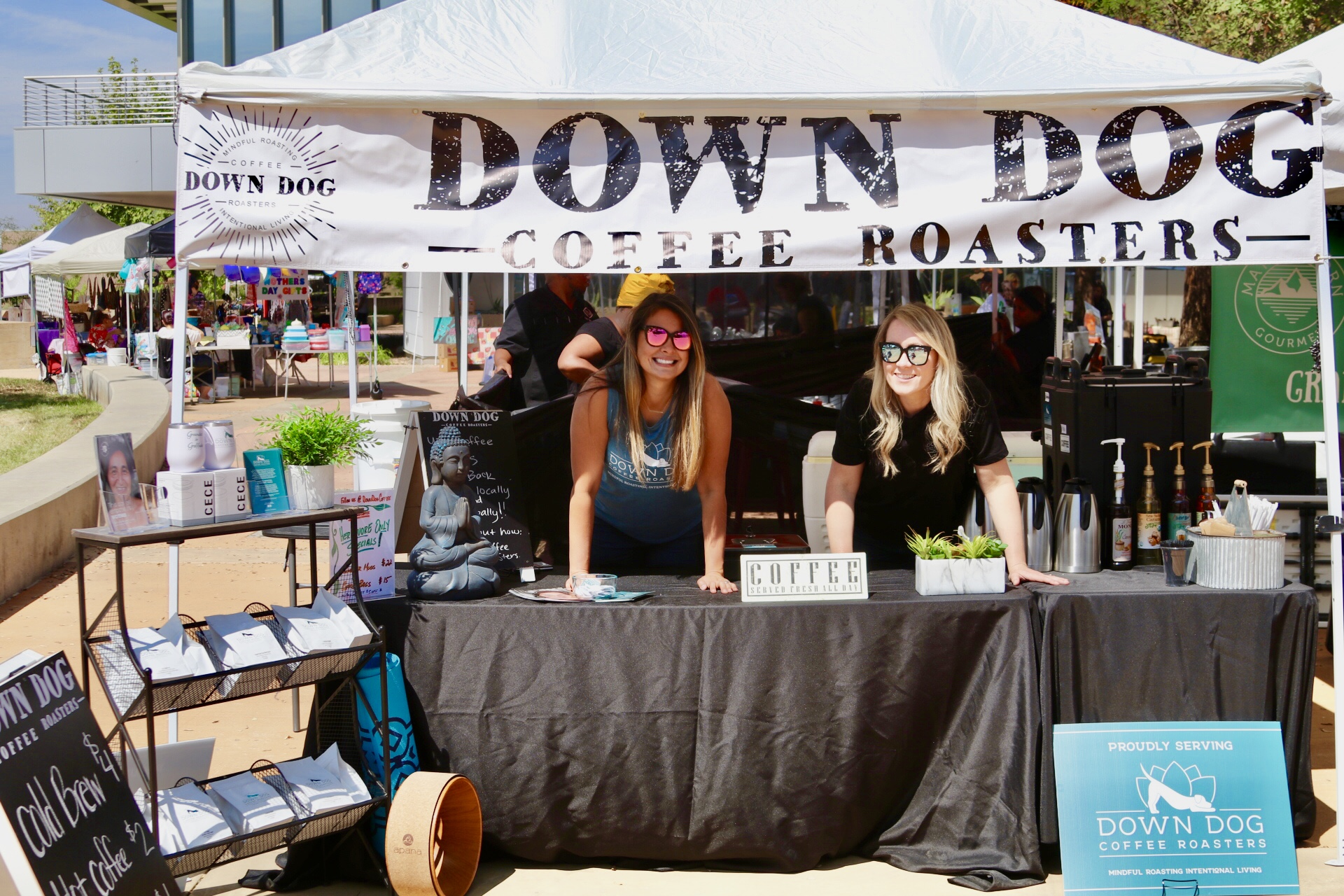 Have Down Dog Coffee Served at Your Next Event! - We love community, people, and making new friends. If you are interested in having Down Dog Coffee available at your next event we have several options to fit your needs.Please feel free to contact us and we will be happy to chat and find what's right for you.