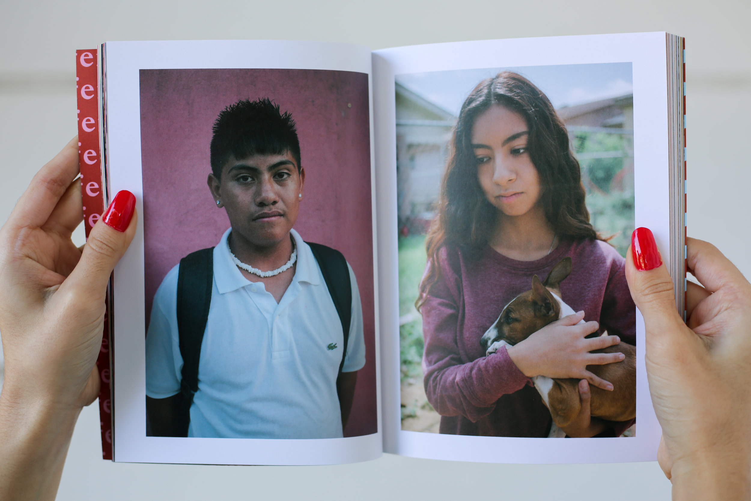 A spread in Femme Frontera: Portraits by Adriana Monsalve.