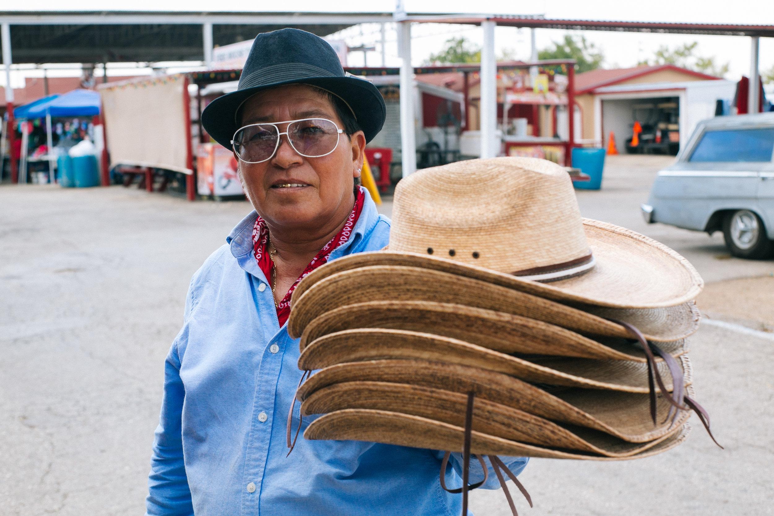Sombrero vendor, San Antonio, Texas 2015