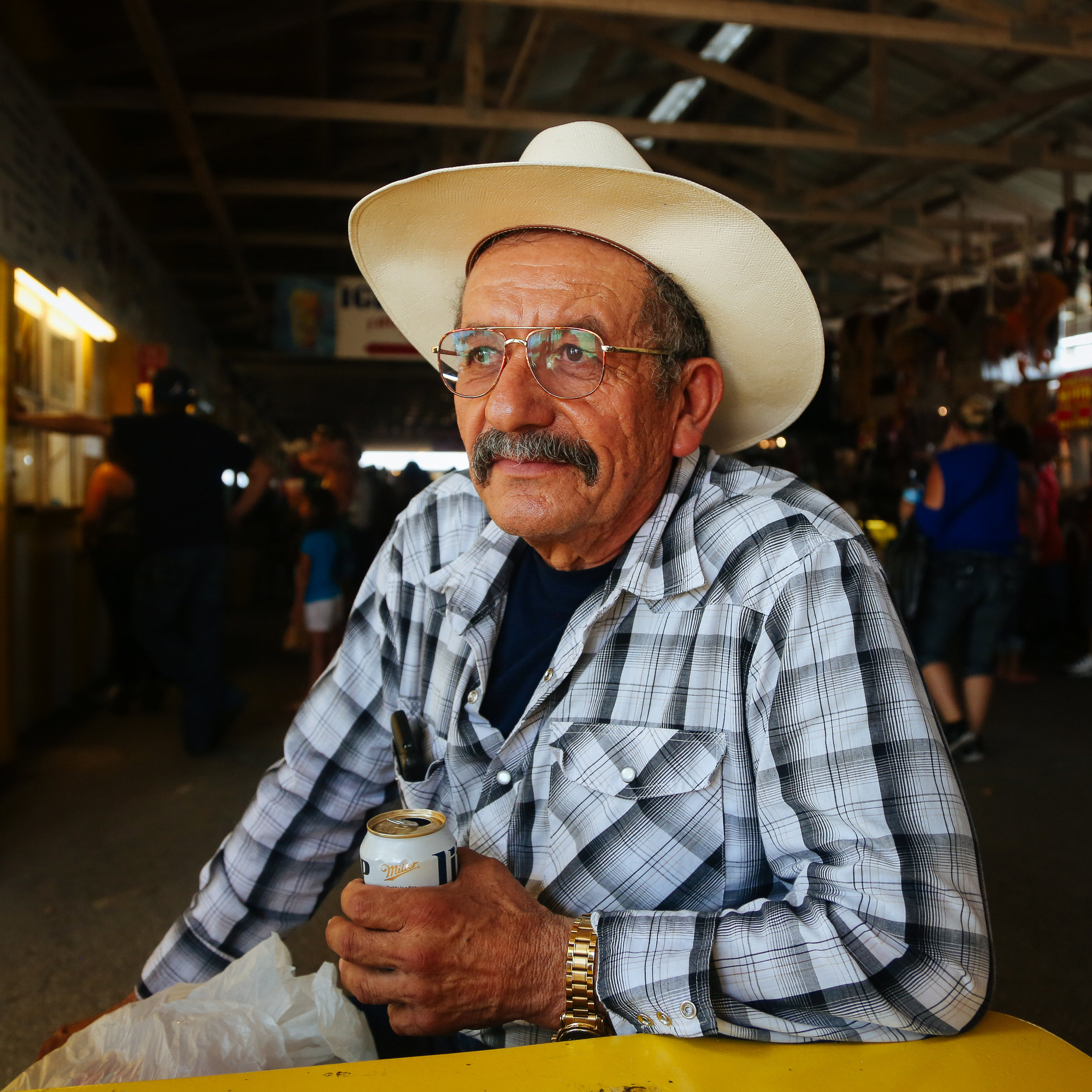 Man with his Miller Lite, San Antonio, Texas 2015