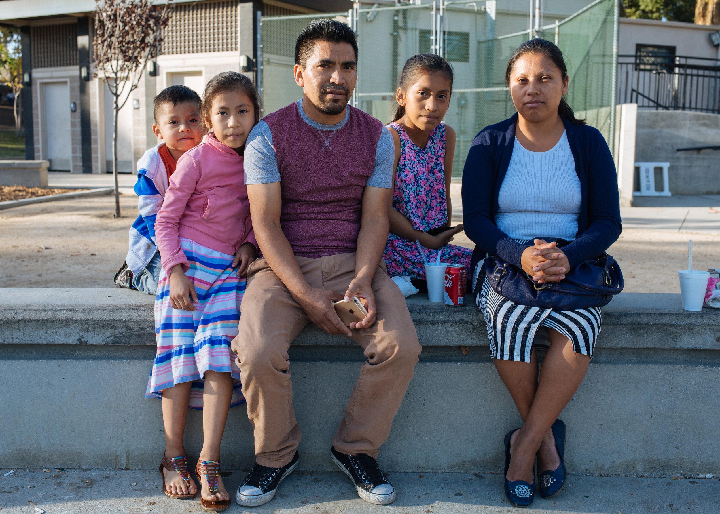 Family at the park, MacArthur Park, California 2016