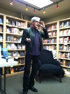 Me at Sunriver Books, promoting an earlier novel.