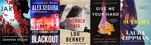 Nominees for Best Novel at this year's World Mystery Convention.