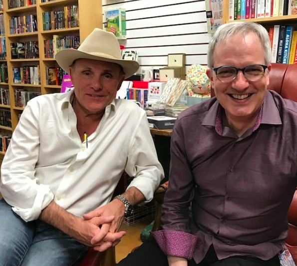 Western writer Robert Knott and yours truly.