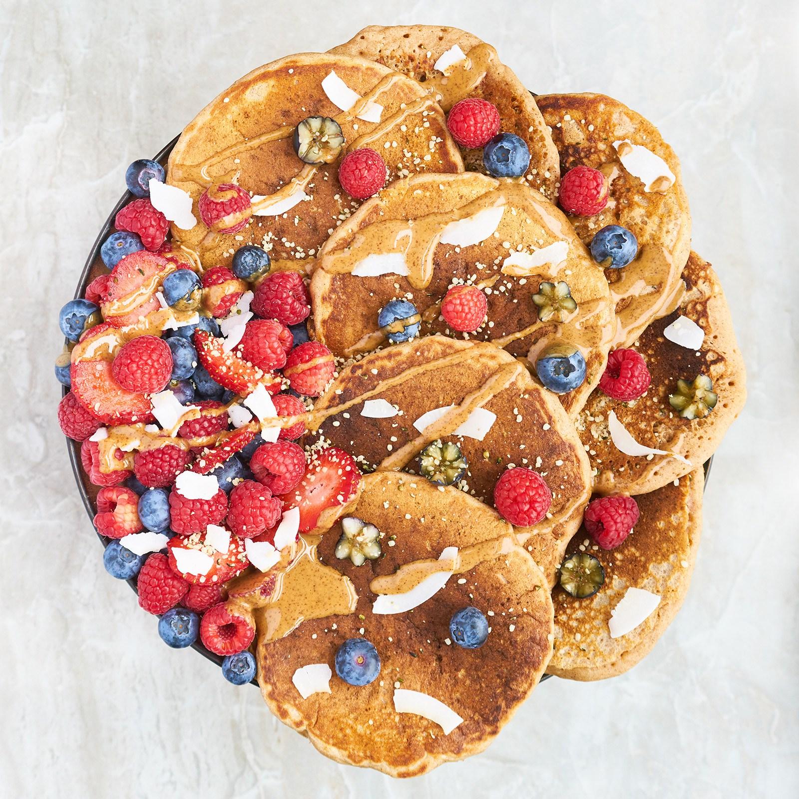Vegan Apple Cinnamon Pancakes from Pamela Fergusson