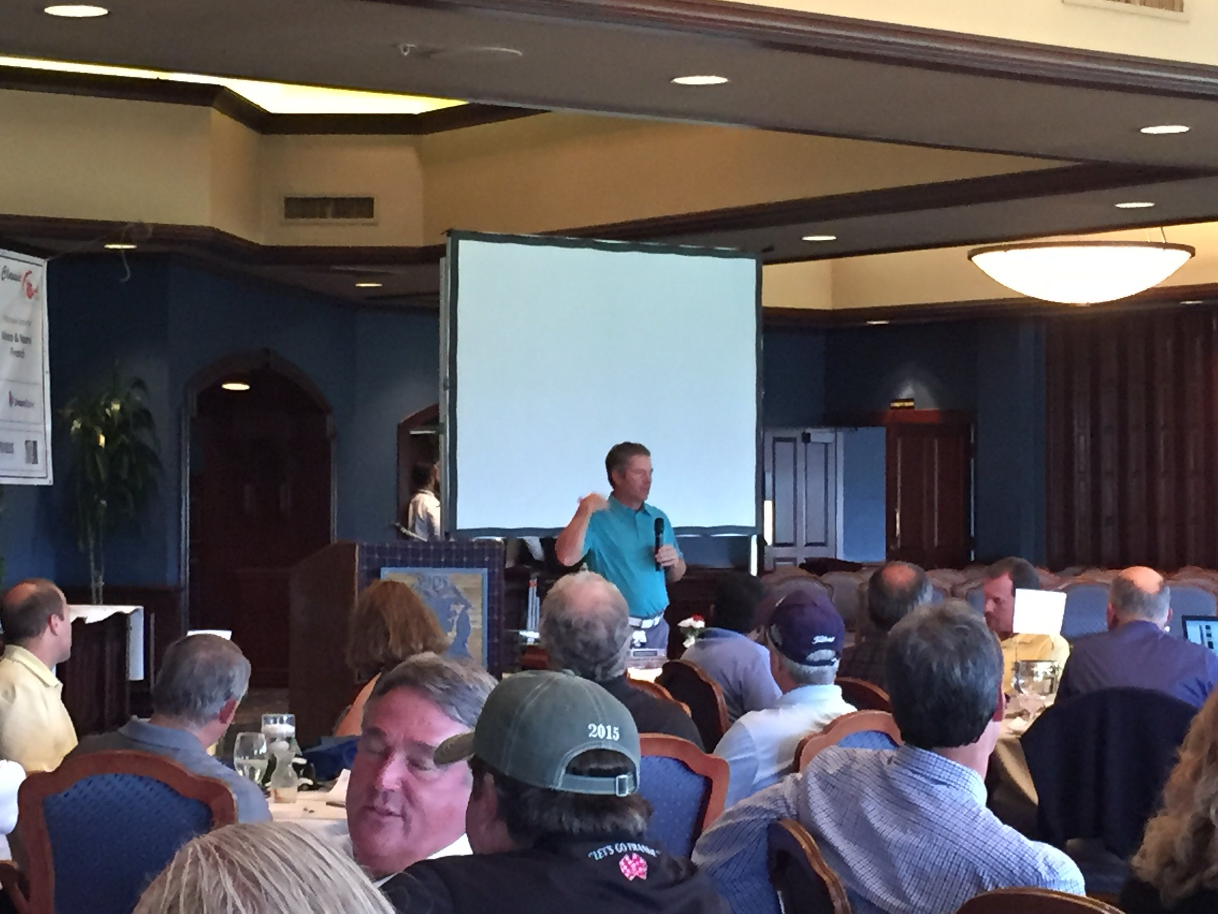 Bruchet as the keynote speaker for the 10th Annual Salvation Army Golf Tournament in Riverside, California.