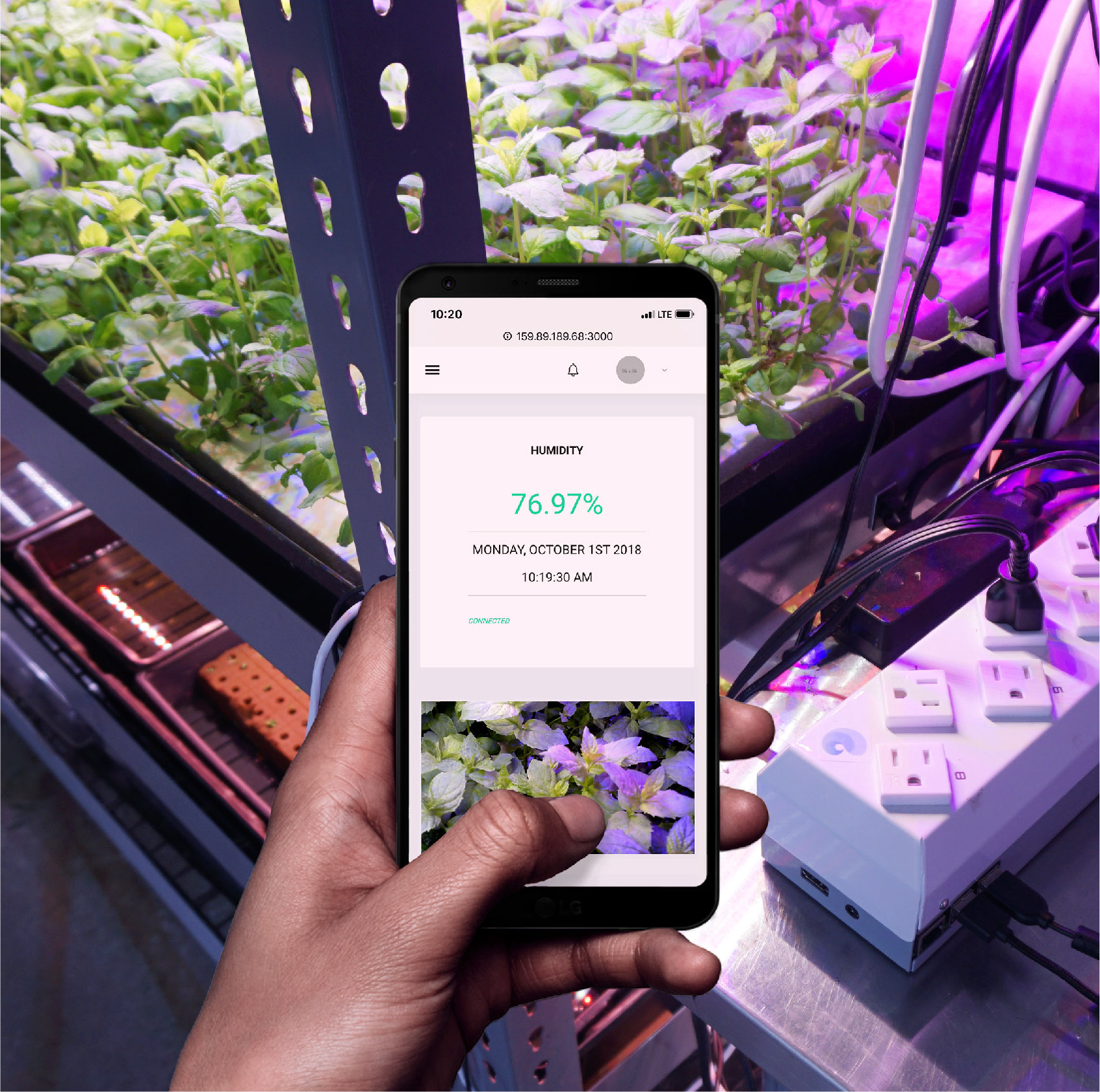 Control your growing system with your smartphone