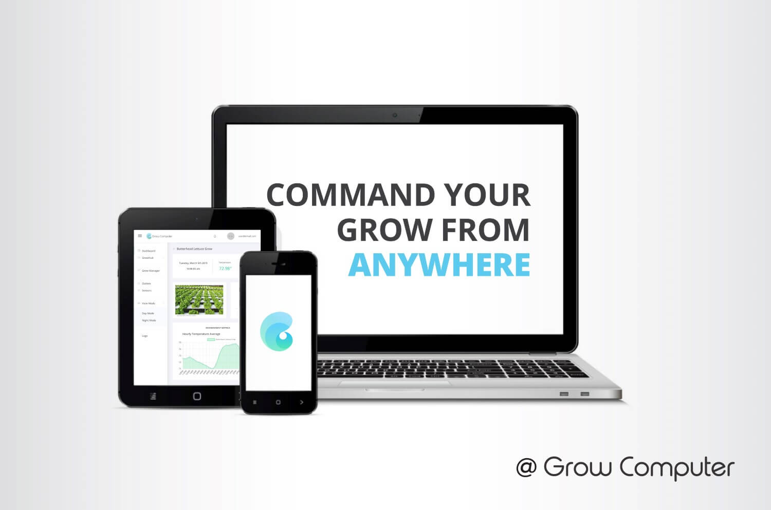 Access your indoor grow data from your computer or phone