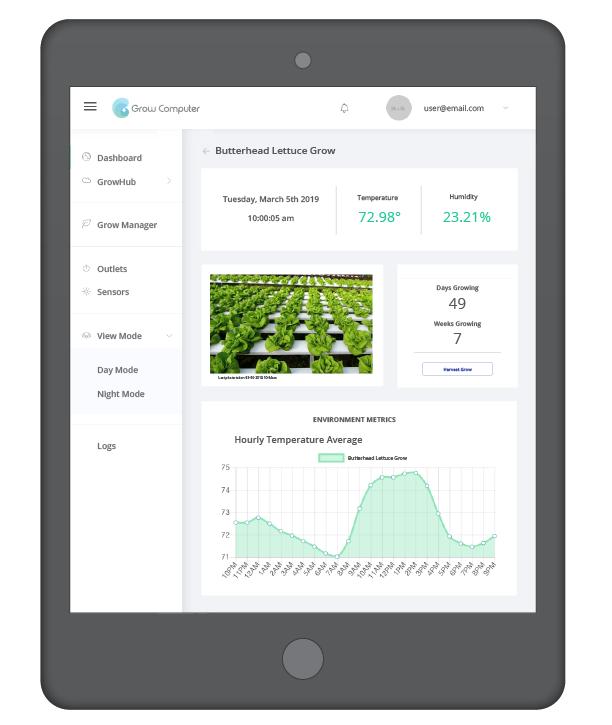 Grow Computer platform is accessible via tablet