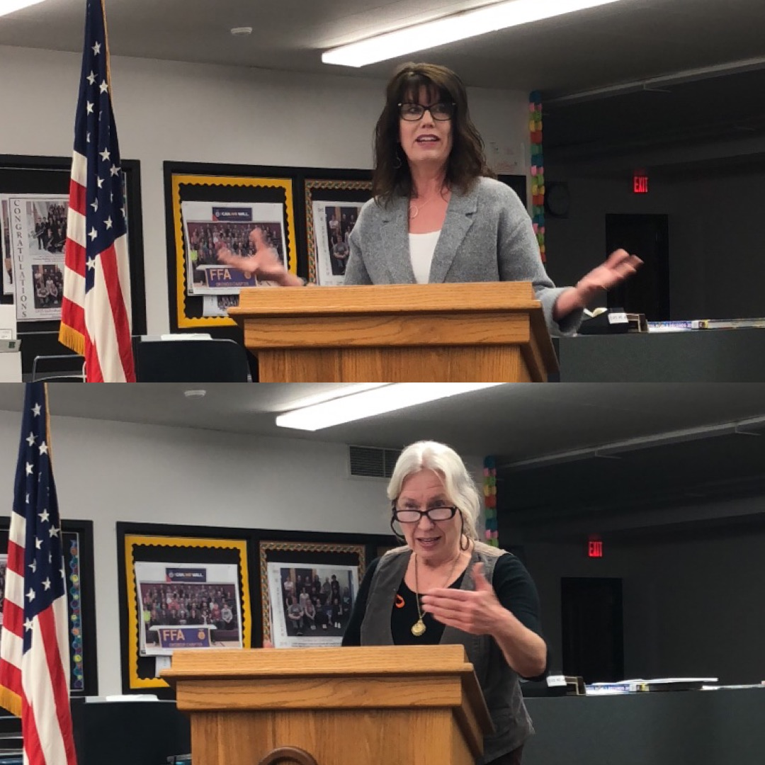 Top:  Leann Jacobsen, candidate for U.S. Congress to replace Steve King.   Bottom:  Karen Larson, candidate for Iowa House District 1 to replace John Wills.