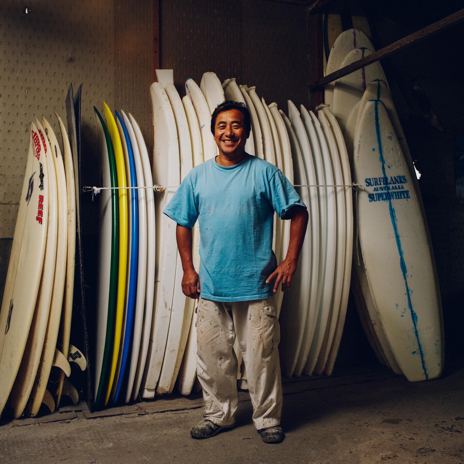 Surfboard builder