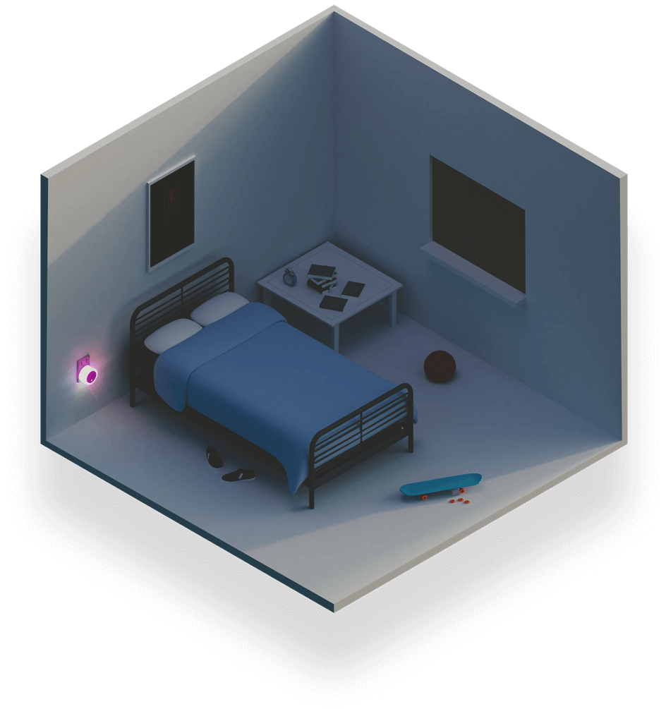 The night light, reinvented. - Meet Zing - almost certainly the best night light ever made.Designed to help you sleep better, walk around safer, and monitor your home from just about anywhere.