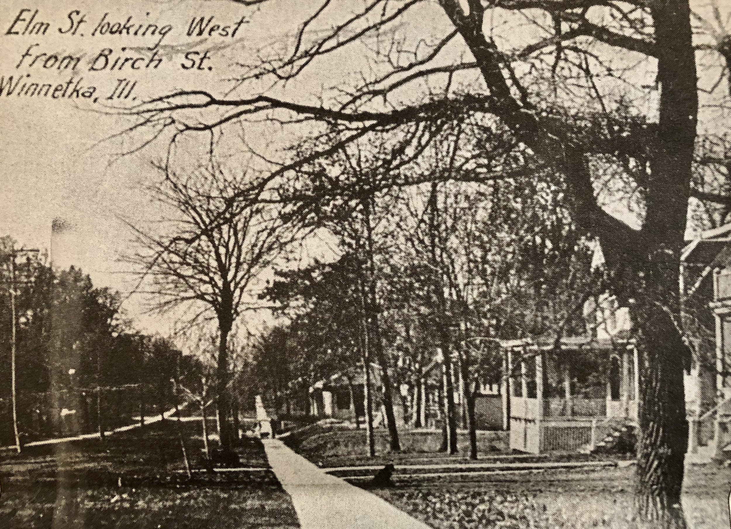 Elm Street & Birch Street Looking West circa 1920
