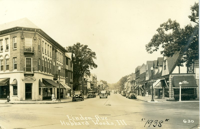 Hubbard Woods 1938 (Tower & Green Bay Road)