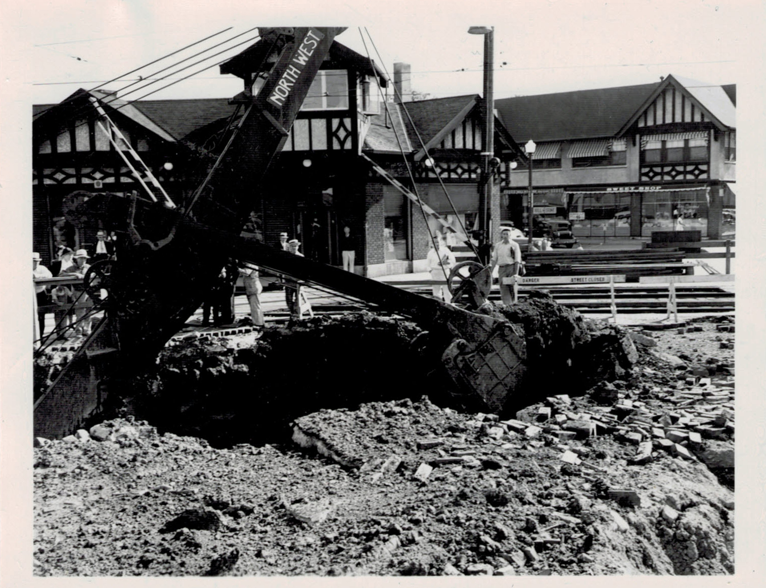 "Known as the ""Big Dig,"" over 3.5 miles of dirt was excavated to lower Winnetka's railway tracks."