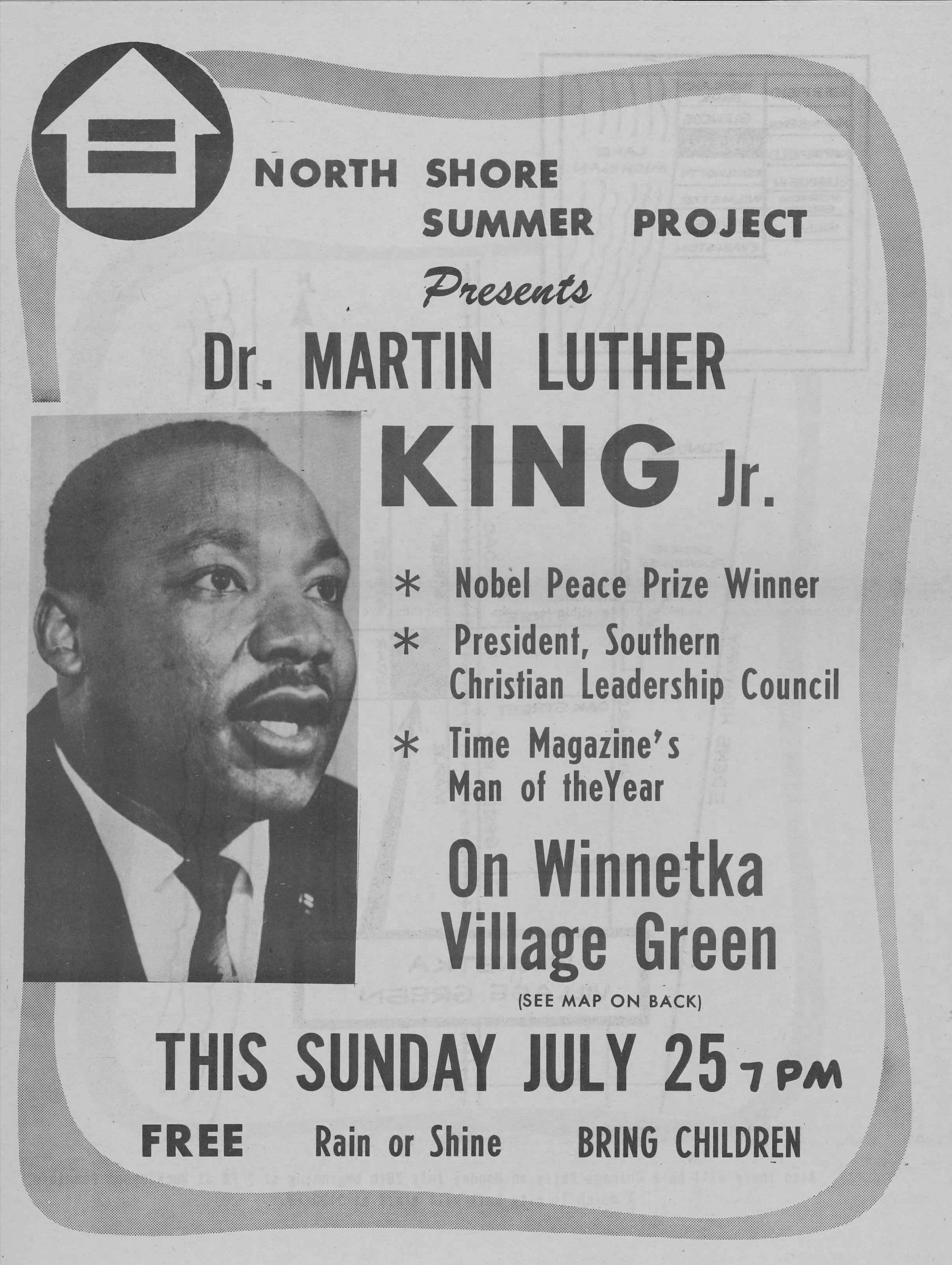 1965 - Dr. Martin Luther King Jr. speaks at the Village Green -