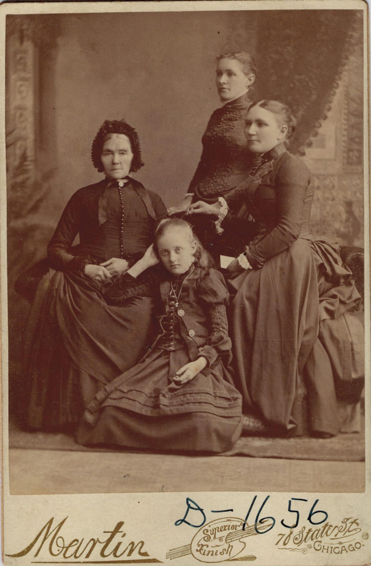 Zernah Patterson & Daughters, circa 1857 -