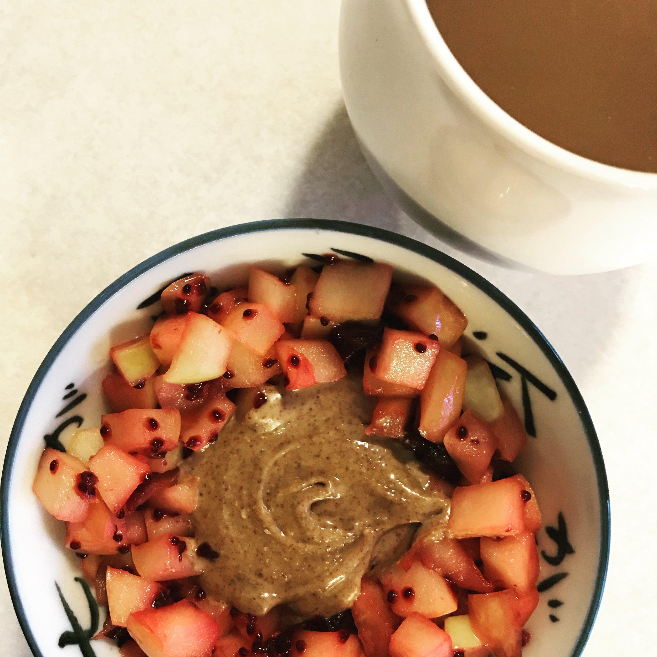 Sautéed Apples with Cherry Chia Jam