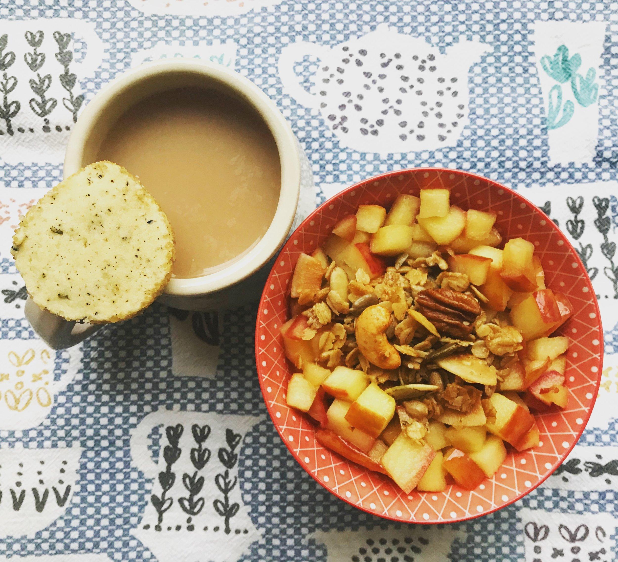 Sautéed Apples with Granola