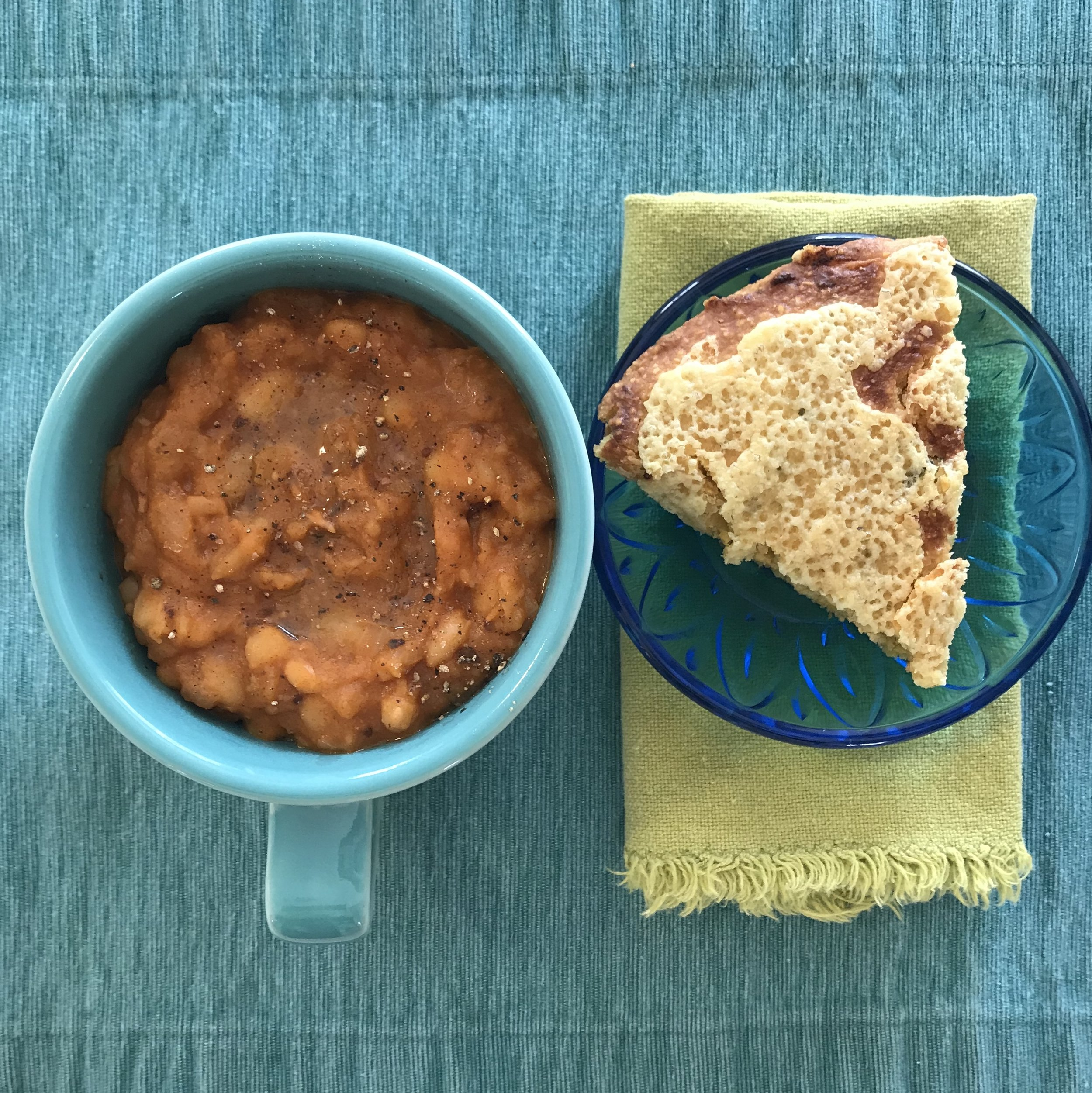 baked beans + cornbread