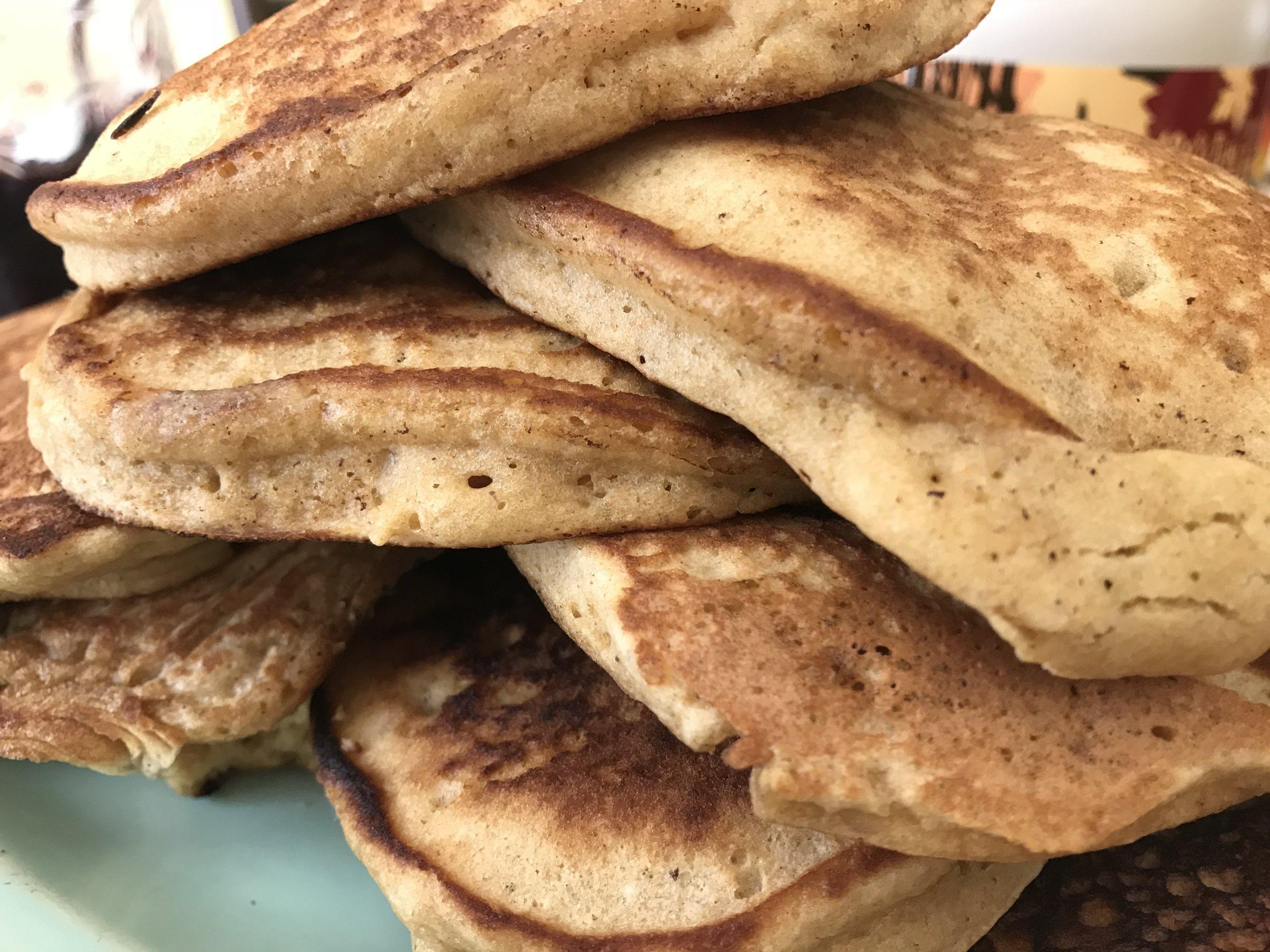 brown butter whole wheat sourdough pancakes