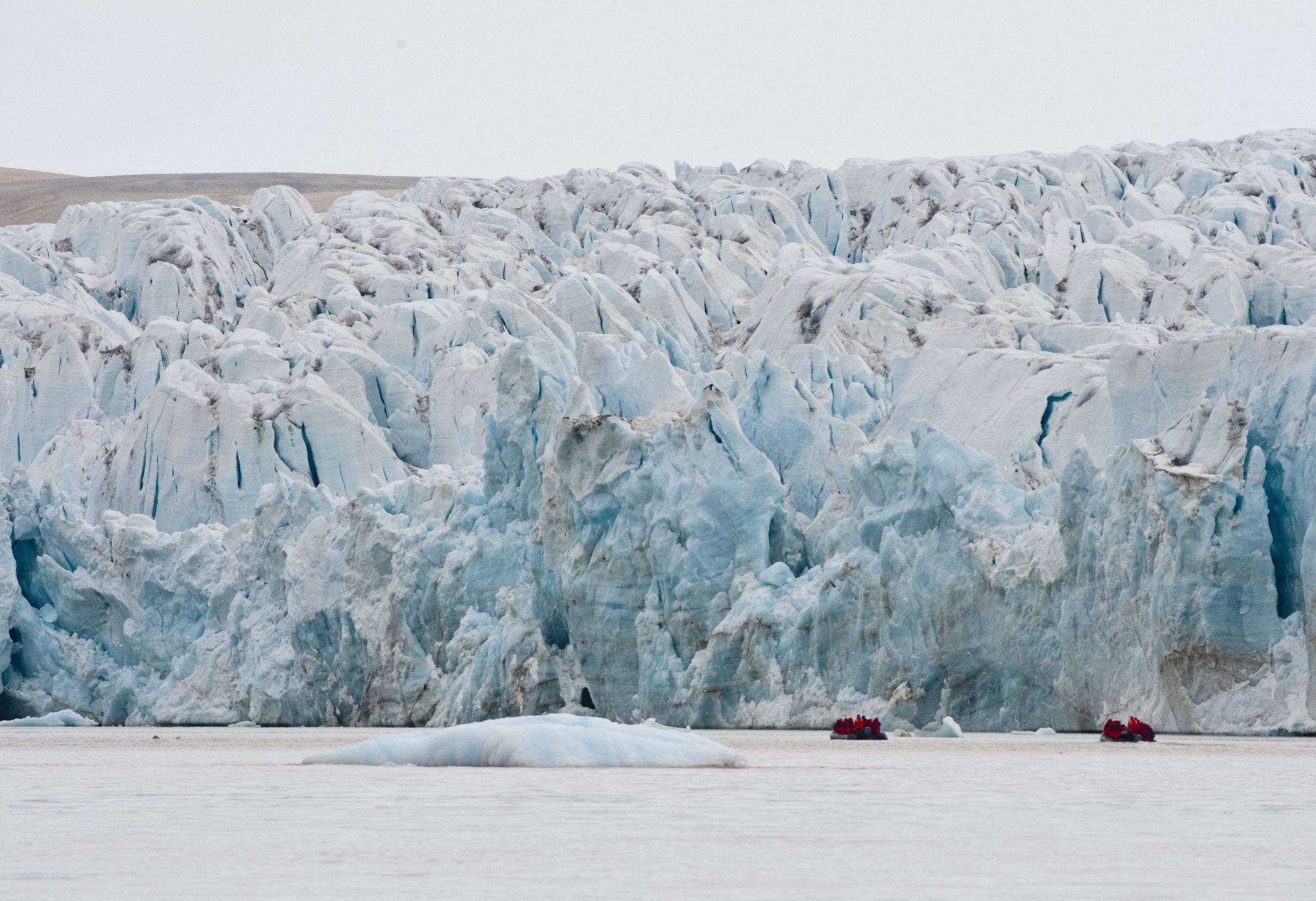 Zodiacs Under Iceberg