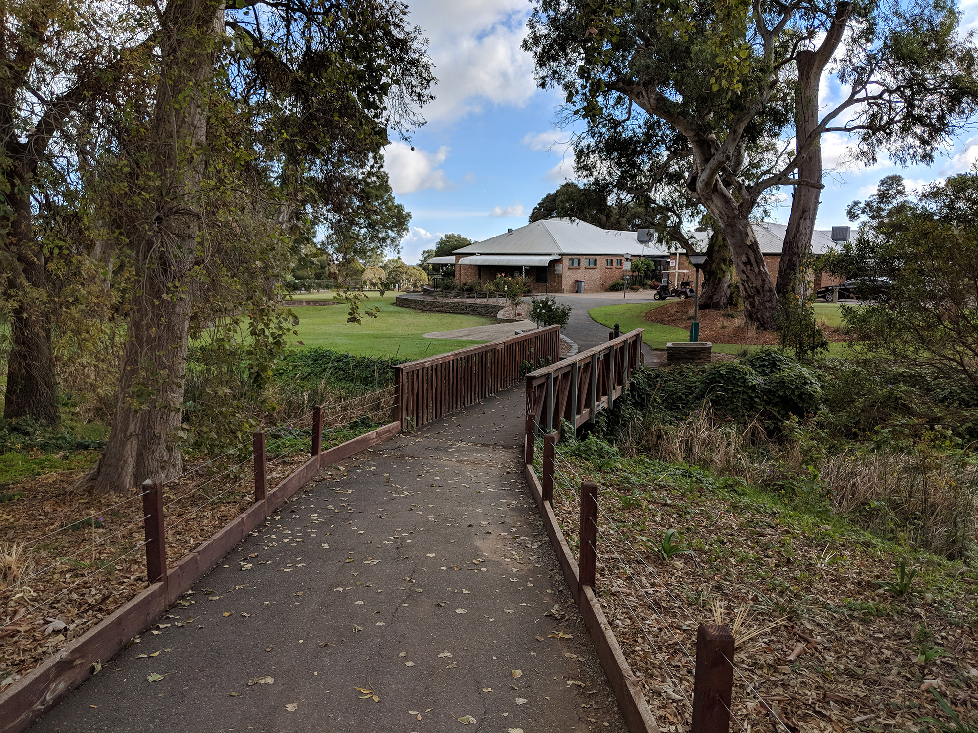 Path to the clubhouse