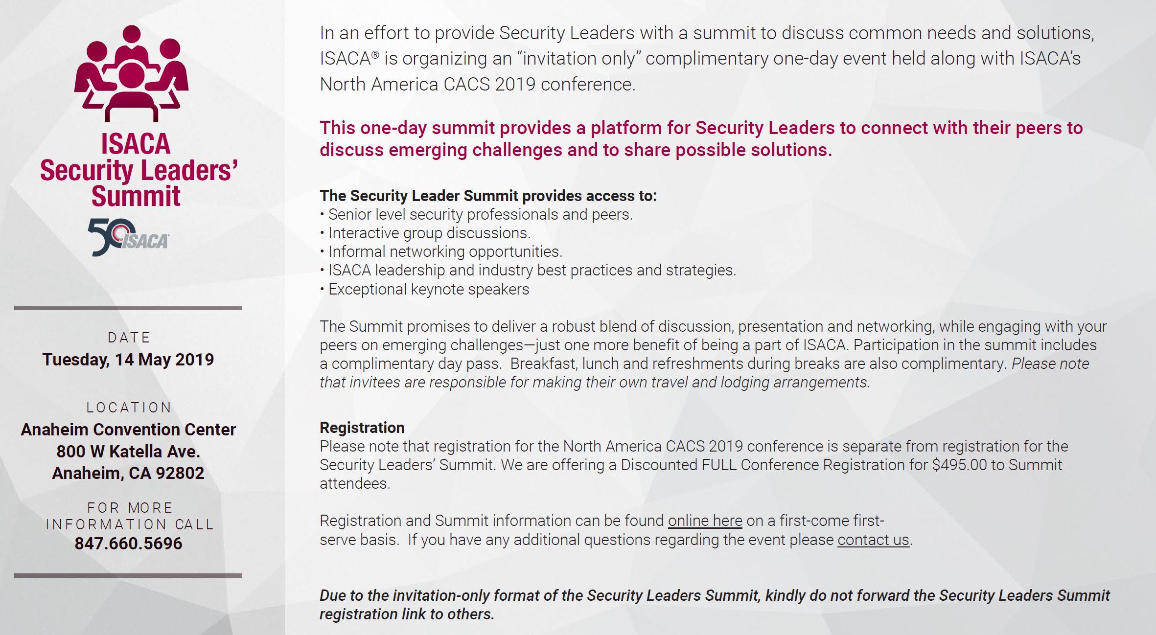 ISACA Security Leaders Summit.JPG
