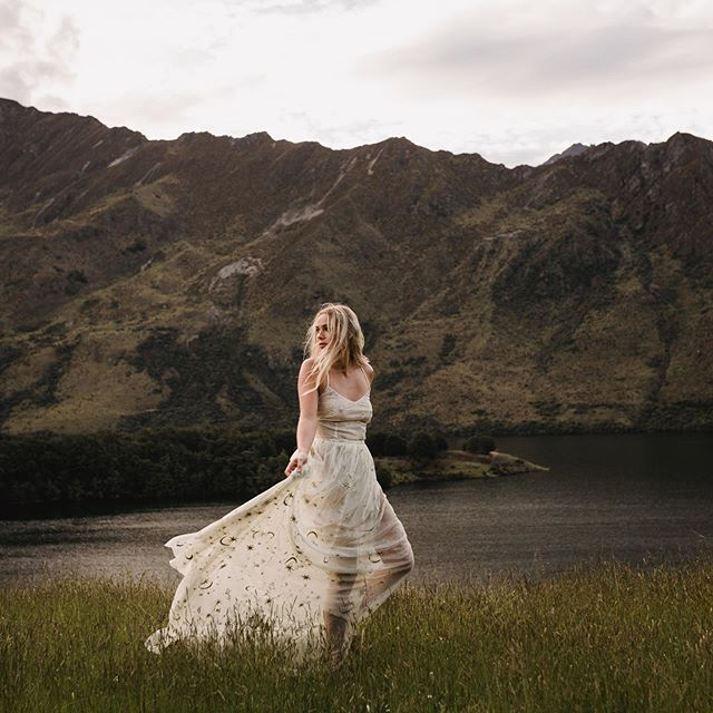 """Her heart was wild but I didn't want to catch it, I wanted to run with it, to set mine free"" — Atticus Photo from our shoot for @wild_hearts at @glamcampingqueenstown 🖤 Styling: @underthewildstars & @lisa.macale.stylist  Photo: @dawnthomsonphoto  Dress: @samanthastokes_ Model: @lucyk123"