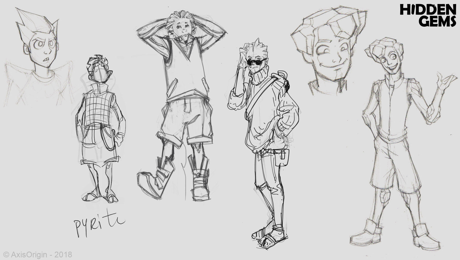 Early Pyrite Character Designs by Joel Sigua and Jose-Luis Segura