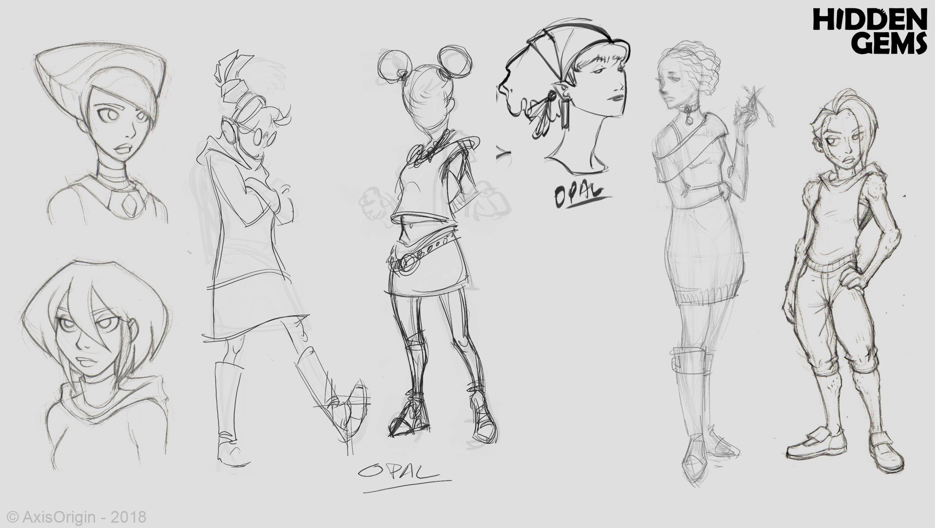 Early Opal Character Designs by Joel Sigua and Jose-Luis Segura